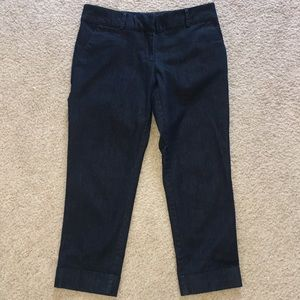 New York and Company Dark Blue Cropped Pant
